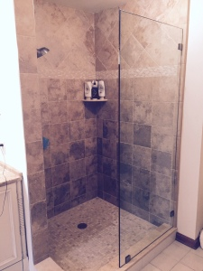 single shower door panel