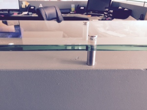 Heavy Glass Table Top With Stand-offs
